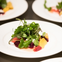 Food prepared by CIA chefs