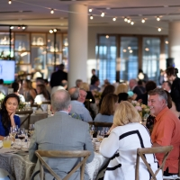 Guests dining in Copia atrium