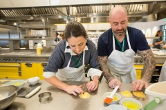A photo of a couple making pasta at the FOOD & WINE's Weekend