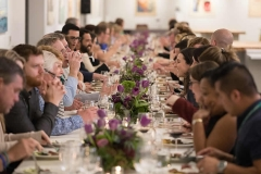 Photo of the California Bounty dinner in the Hestan Kitchen during FOOD & WINE weekend at the CIA.