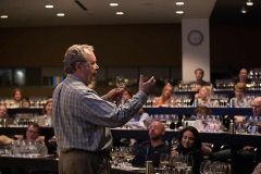 Photo of Sommelier Jeff Prather discussing the fine points of wine during FOOD & WINE Weekend at the CIA.