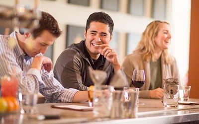 Photo of patrons at CIA Copia Restaurant in Napa