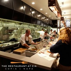 Image of the kitchen at The Restaurant at The CIA at Copia in Napa, CA