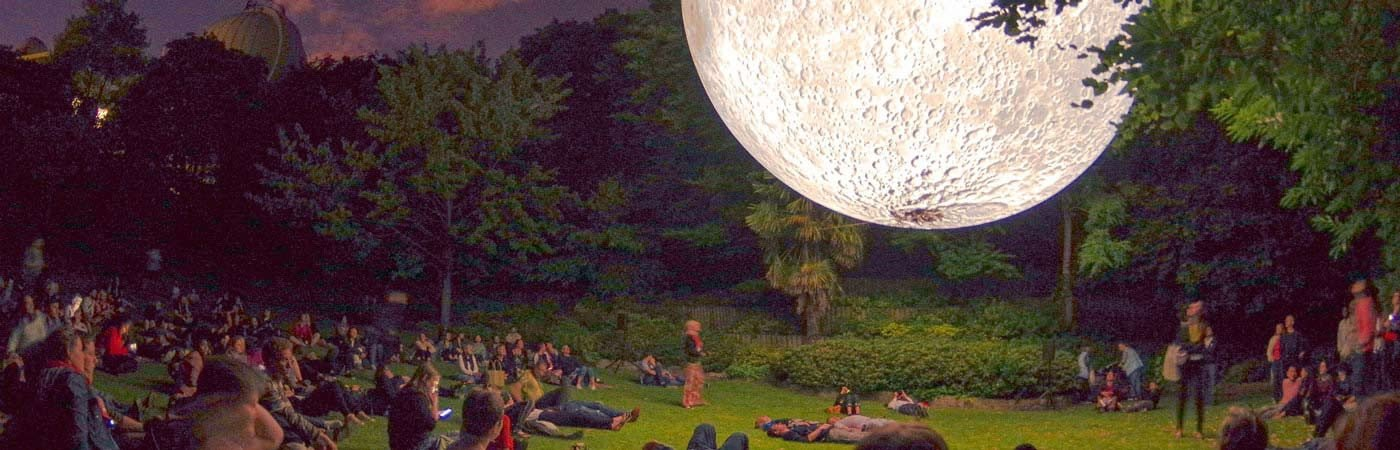 moon in the park with people