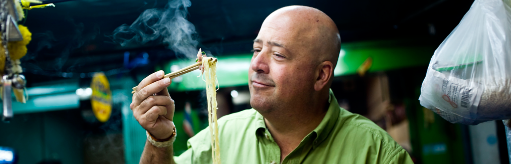Andrew Zimmern, host of Conversations at Copia, at The CIA at Copia in Napa, CA.