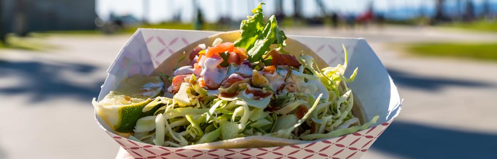 Street taco in southern California