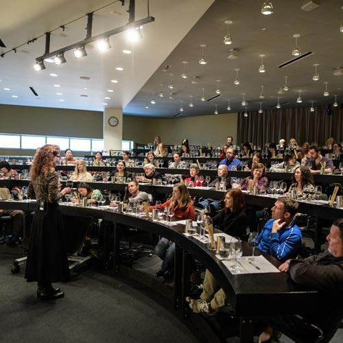 Napa Valley Vintners Theater, an event venue at the CIA at Copia, perfect for lectures, private wine tastings, specialized classes, and culinary demonstrations.