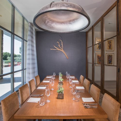 Private dining room available for rent at the CIA at Copia, in Napa, CA.