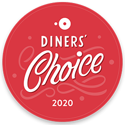 2020 Diners Choice Award given to The CIA at Copia in downtown Napa, California.