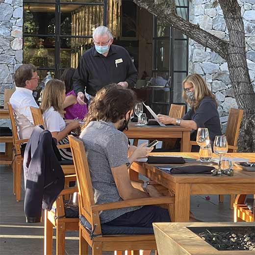 People Dining Outdoors at The Grove at Copia